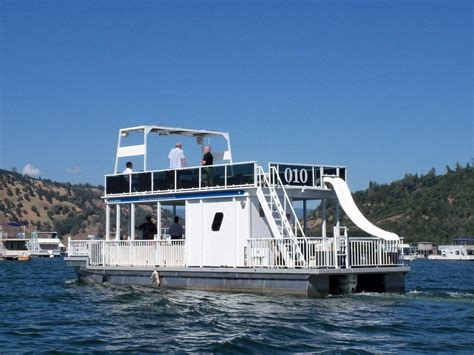 Houseboats For Sale Lake Tahoe by 44 Ft Patio Pontoon Boat Has Deck Water Slide