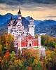 Autumn and Neuschwanstein Castle. Good Morning ...