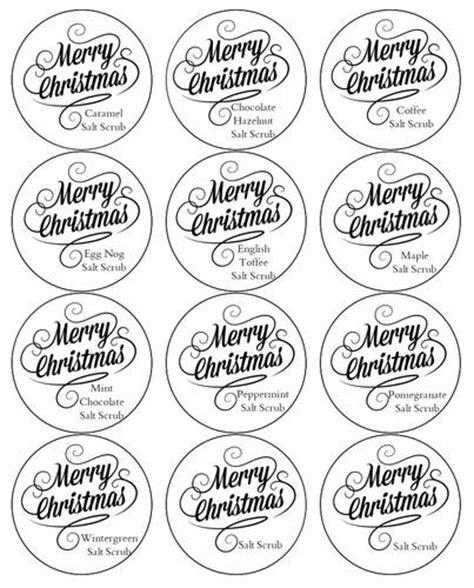 homemade salt scrub labels label templates christmas
