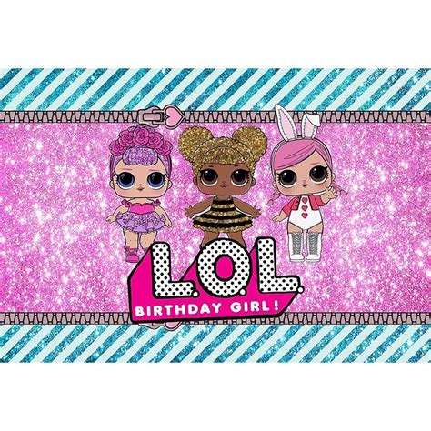 New Lol Surprise Doll Backdrop Birthday Party Photography