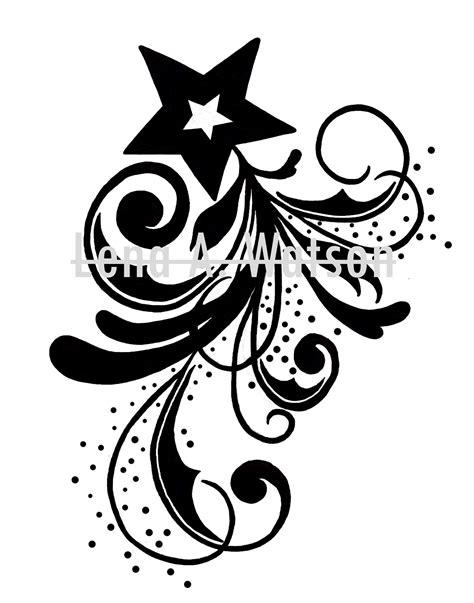 Star Spiral Tattoo by Lena A. Watson | Spiral tattoos, Tribal tattoos, Artwork