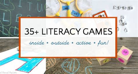 literacy games  kids indoor  outdoor learning fun