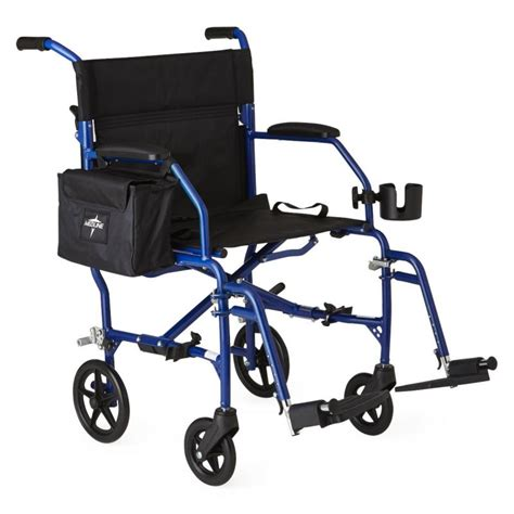 medline transport chair carry bag freedom transport ultralight transport chair blue wheels