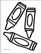 Coloring Clipart Crayons Clip Words Basic Contest Abcteach Crayon Webstockreview Pencil sketch template