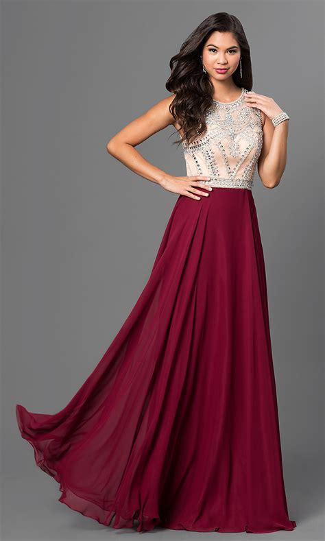 burgundy color prom dress burgundy beaded prom dress promgirl