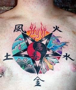 Tatouage 4 éléments : 46 tatouages du symbole du yin et du yang ~ Nature-et-papiers.com Idées de Décoration
