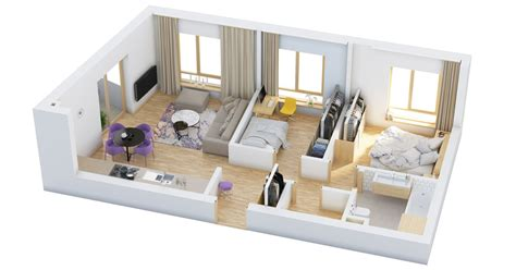 40 More 2 Bedroom Home Floor Plans