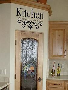 Kitchen wall quotes on pinterest kitchen wall sayings for Kitchen cabinets lowes with wall sticker art for kids