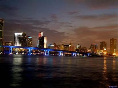 Miami Beach Night Florida Wallpapers Desktop Places