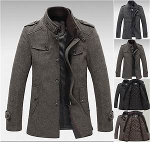 2014 Classic Wool Blends Brand Overcoat Autumn Winter Men ...