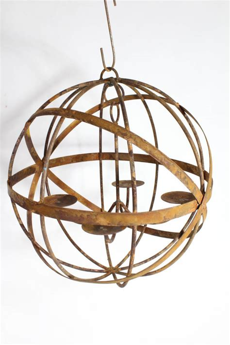 20 quot wrought iron mystic sphere candle chandelier