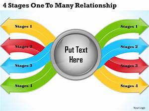 1013 Business Ppt Diagram 4 Stages One To Many