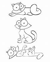 Crazy Coloring Pages Cats Printable Critters Line Cartoon Popular Cartoons Library Clipart sketch template