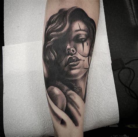 Girl clown face tattoo, half sleeve in progress   tatoos ...