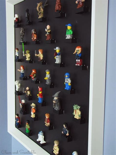 hometalk diy lego mini figure display