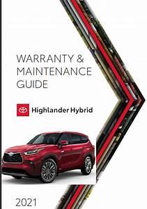 2021 Toyota Highlander Hybrid Warranty And Maintenance
