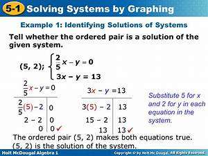 Learning Goal Identify Solutions Of Linear Equations In