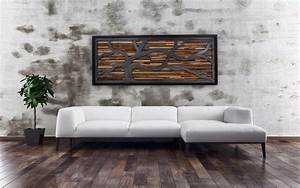 Creative ideas for your own reclaimed wood wall art for Reclaimed wood design ideas