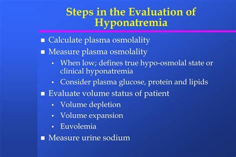 diagnosis  treatment  hyponatremia powerpoint