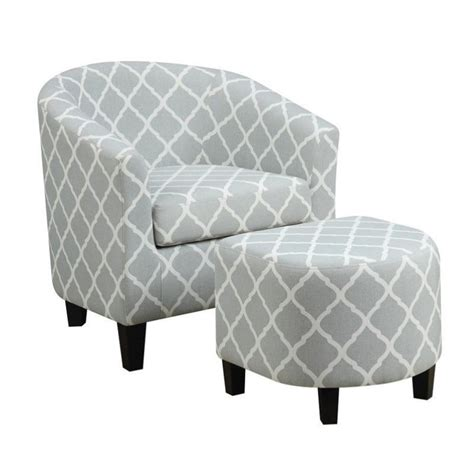 fabric chair with ottoman pemberly row fabric accent chair with ottoman in light