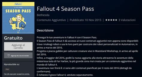 Il season pass di Fallout 4 è gratis per PlayStation 4
