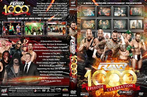 Wwe Raw 1000 Dvd Cover V1. By Chirantha On Deviantart