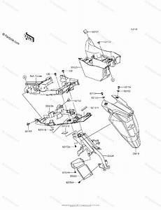 Kawasaki Motorcycle 2015 Oem Parts Diagram For Rear Fender