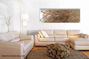 Tableau Salon Design : tableau abstrait or ~ Teatrodelosmanantiales.com Idées de Décoration