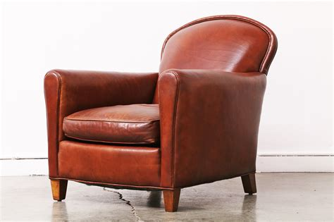 contemporary brown leather club chair vintage supply store
