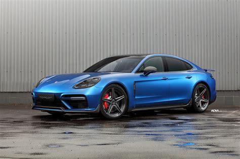 Porsche Panamera Gt Turbo by Sapphire Blue Metallic Topcar Porsche Panamera Turbo Gt On