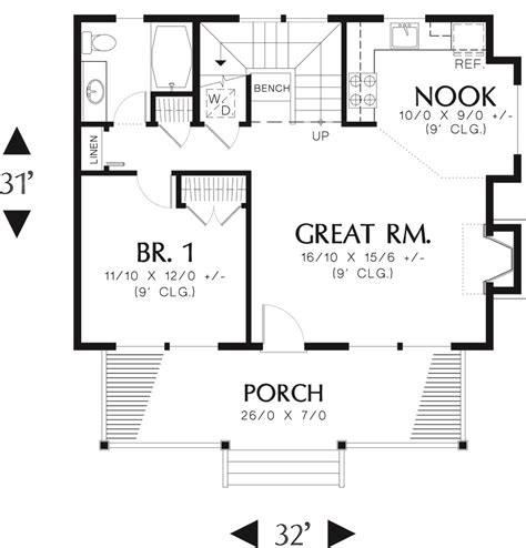 log style house plan 1 beds 1 baths 950 sq ft plan 48 303 dreamhomesource com