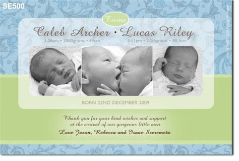 se twin boy birth announcement twins joint