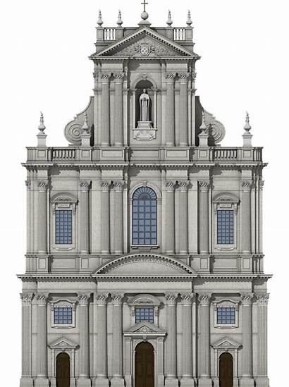 Baroque Eglise Facade Paris Saint Paul Une