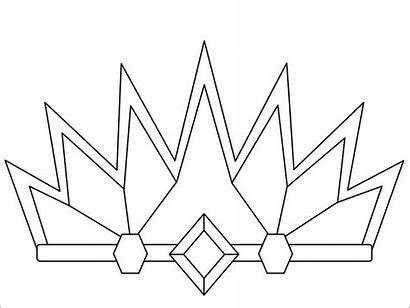 Crown Coloring Pages Tiara Princess Queen Esther