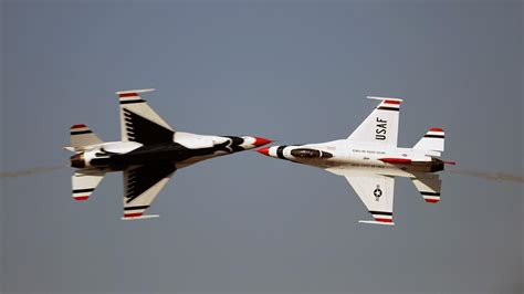 fighting falcon jet aircraft widescreen usaf thunderbirds