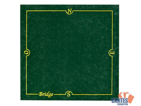 cartes production tapis bridge cartes production 77 77 cm vert