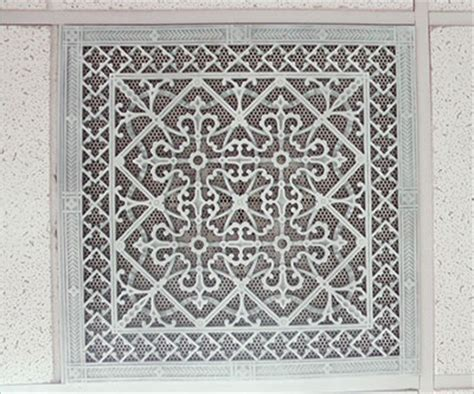 Decorative Return Air Grille Canada by T Bar Ceiling Grilles Beaux Arts Classic Products