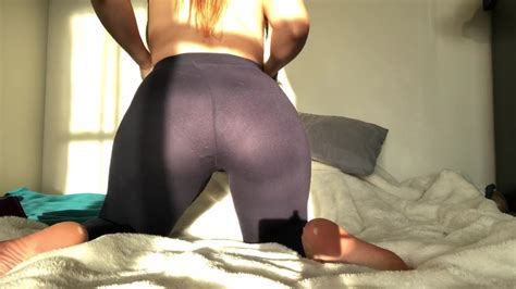 Can I Suck Your Cock Sloppy Redhead Blowjob In Leggings