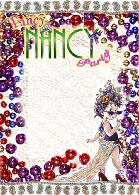 FREE Kids Party Invitations: Fancy Nancy Printable