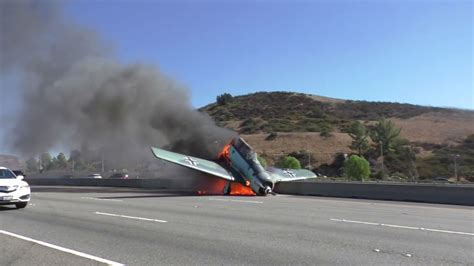 Small Plane Crashes On 101 Freeway In Agoura Hills