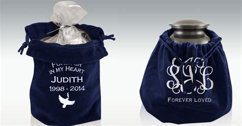 perfect memorials funeral  cremation blog blog archive embroidered velvet urn bags
