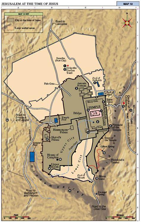 bible maps jerusalem   time  jesus  map shows