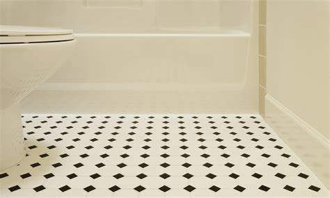 Vinyl floor tiles bathroom, black and white bathroom vinyl