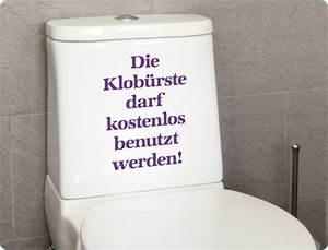 Klo Mit Spülkasten : wc aufkleber die klob rste darf kostenlos benutzt werden ~ Articles-book.com Haus und Dekorationen