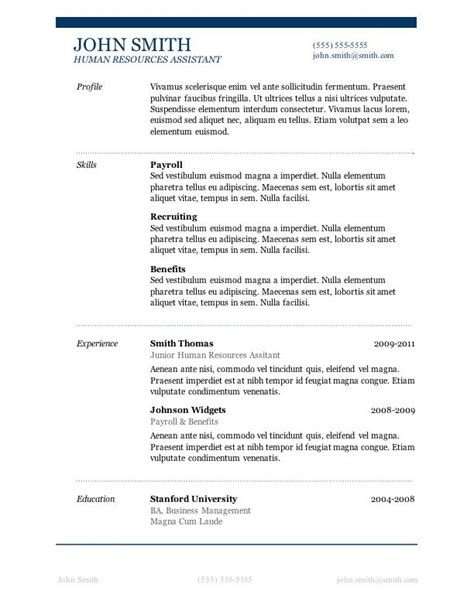 Professional Resume Template Word by 50 Free Microsoft Word Resume Templates For Cv