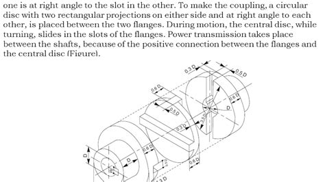 machine drawing assembly drawing oldham coupling youtube