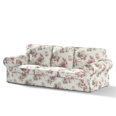 Sofa Covers 3 Seater by Ektorp 3 Seater Sofa Cover Pink And Beige Roses Ivory