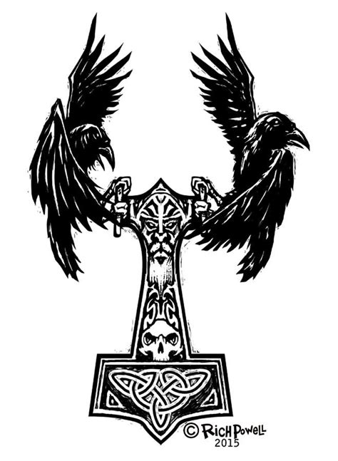 12+ Amazing Norse Raven Tattoo Designs