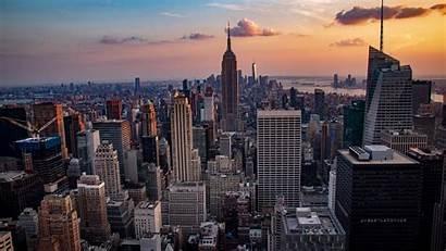 York Cityscape 5k Buildings Background
