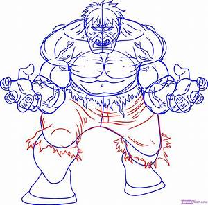 How to Draw Hulk, Step by Step, Marvel Characters, Draw ...